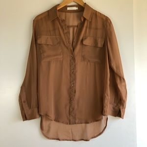 3 for $25 SALE Lush Sheer Button Down Blouse